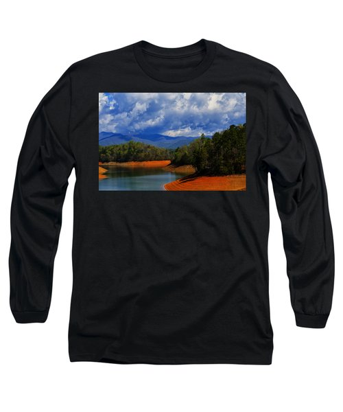 Fontana Lake Storm Long Sleeve T-Shirt by Chris Flees