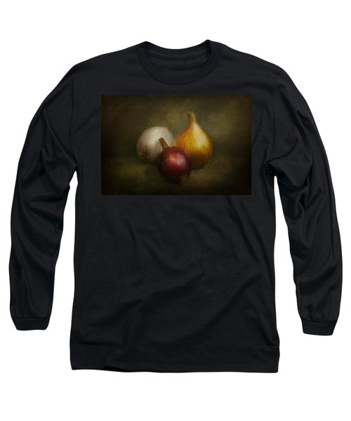 Food - Onions - Onions  Long Sleeve T-Shirt by Mike Savad