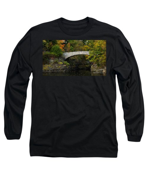 Foot Bridge At Beebe Lake Long Sleeve T-Shirt