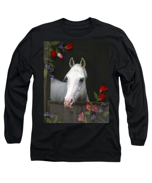 For The Roses Long Sleeve T-Shirt by Melinda Hughes-Berland