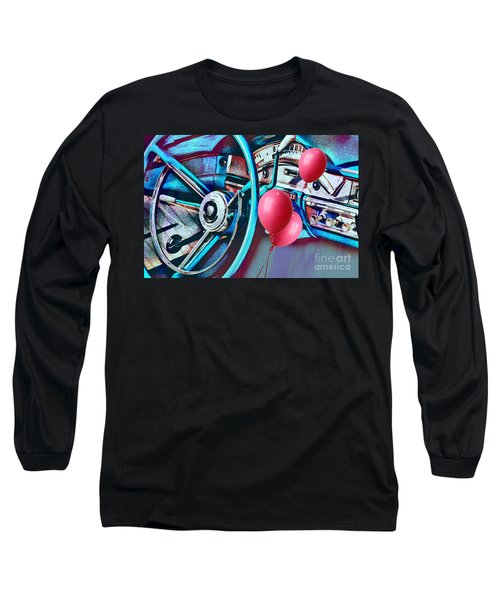 Ford Fairlane 500 Dashboard- Warhol-esque Long Sleeve T-Shirt