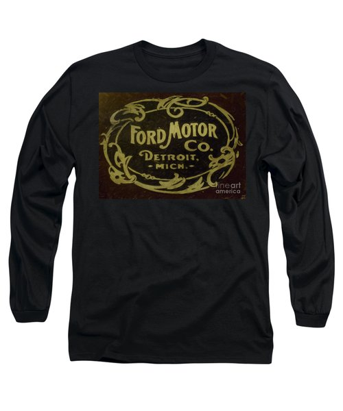 Ford Motor Company Long Sleeve T-Shirt by David Millenheft