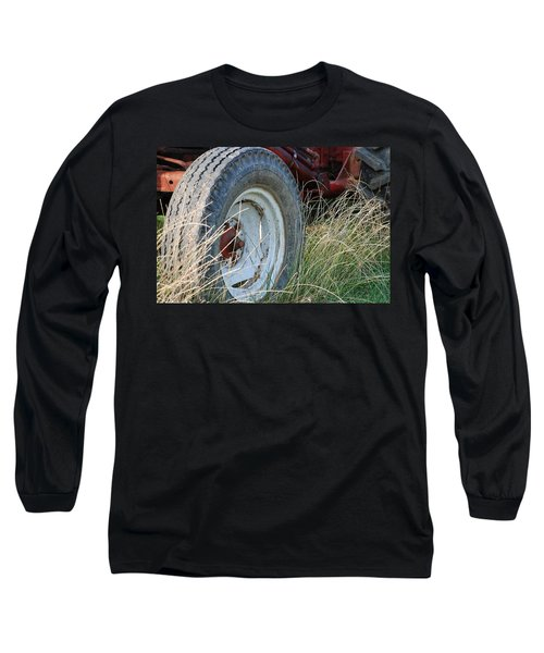 Long Sleeve T-Shirt featuring the photograph Ford Tractor Tire by Jennifer Ancker