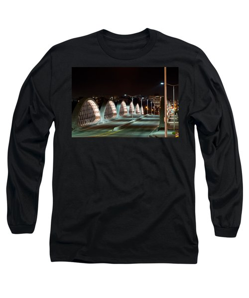 Fort Worth Seventh Street Bridge Oct 10 2014 Long Sleeve T-Shirt