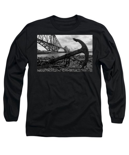 Forth Bridge Anchor Long Sleeve T-Shirt by Jeremy Voisey