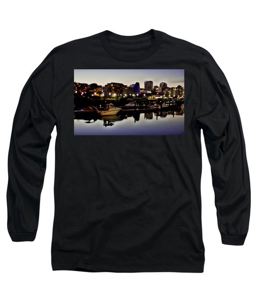 Foss Waterway At Night Long Sleeve T-Shirt
