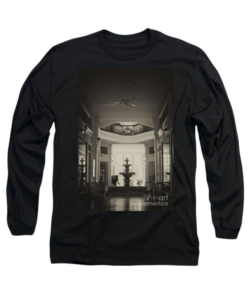 Fountain In The Light Long Sleeve T-Shirt by Donna Greene