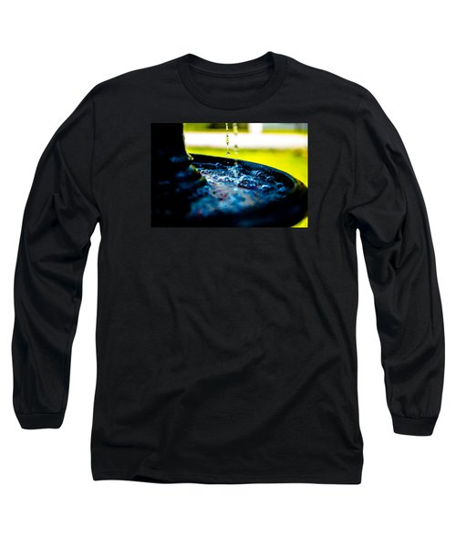Long Sleeve T-Shirt featuring the photograph Fountain Of Time by Mez