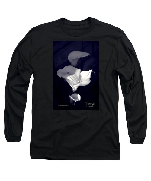 Four Calla Lilies In Shade Long Sleeve T-Shirt