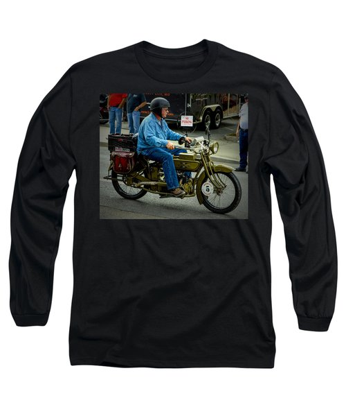 Four Cylinder Henderson Motorcycle Long Sleeve T-Shirt