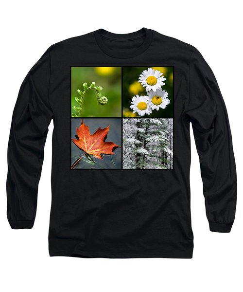 Long Sleeve T-Shirt featuring the photograph Four Seasons Nature Square by Christina Rollo
