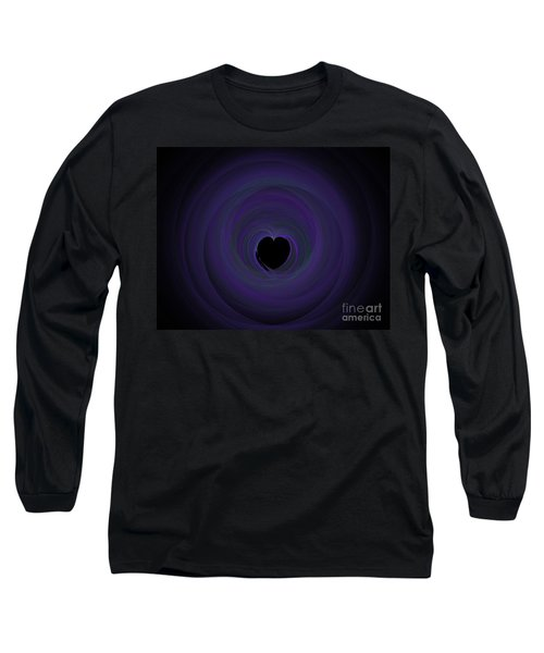 Long Sleeve T-Shirt featuring the digital art Fractal Blue by Henrik Lehnerer