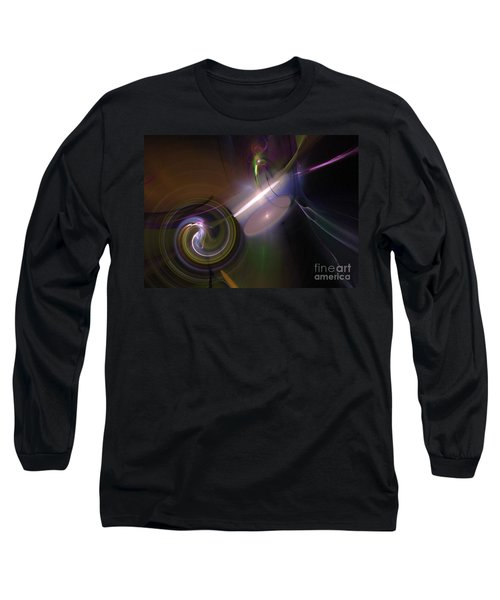 Long Sleeve T-Shirt featuring the digital art Fractal Multi Color by Henrik Lehnerer