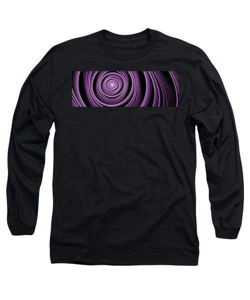 Fractal Purple Swirl Long Sleeve T-Shirt