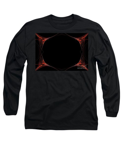 Long Sleeve T-Shirt featuring the digital art Fractal Red Frame by Henrik Lehnerer