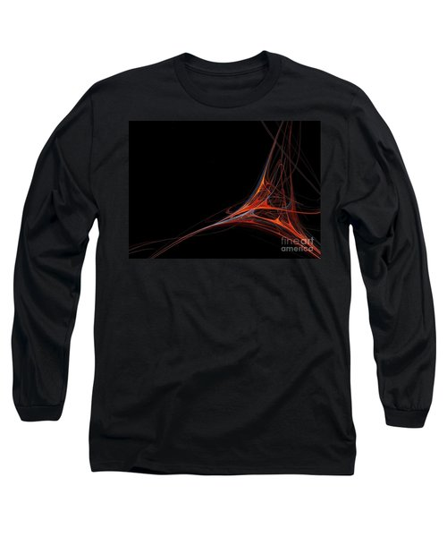 Long Sleeve T-Shirt featuring the photograph Fractal Red by Henrik Lehnerer