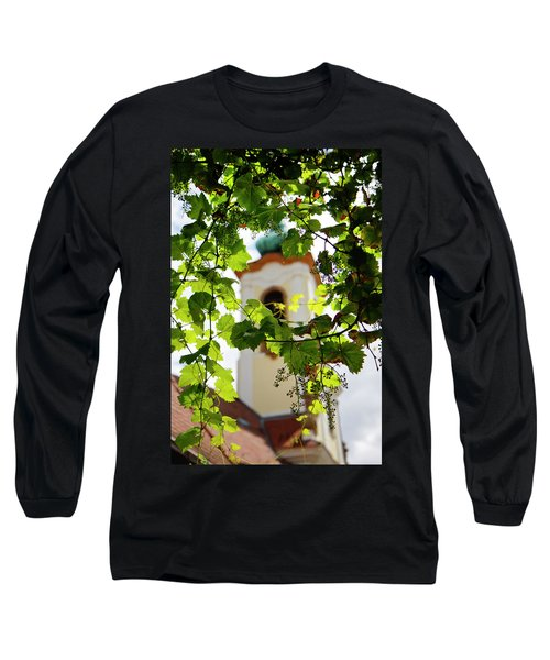 Long Sleeve T-Shirt featuring the photograph Framed Steeple by KG Thienemann