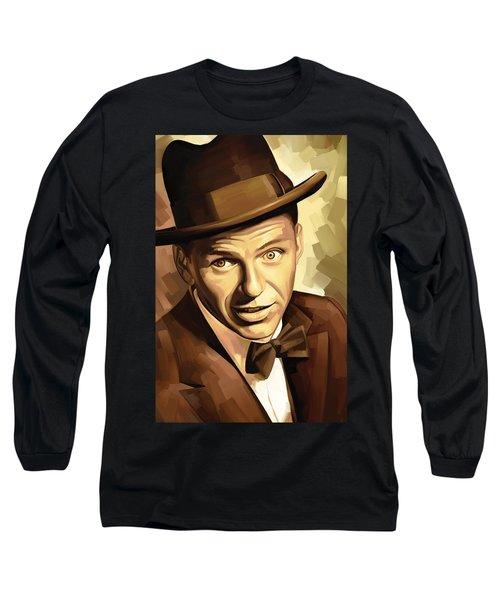 Frank Sinatra Artwork 2 Long Sleeve T-Shirt by Sheraz A