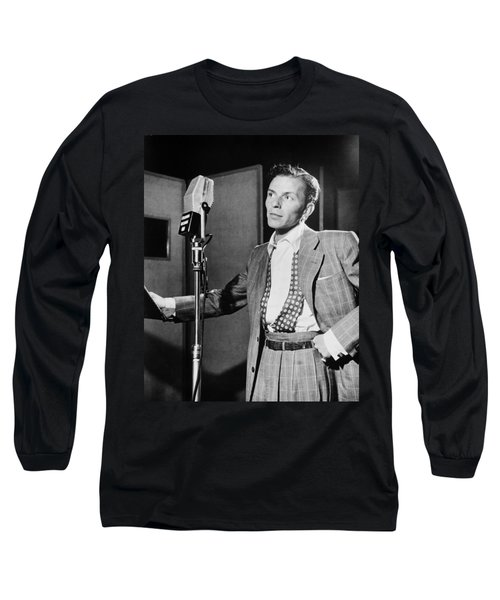 Frank Sinatra Long Sleeve T-Shirt by Mountain Dreams