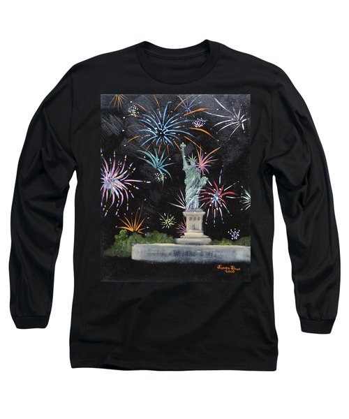 Long Sleeve T-Shirt featuring the painting Freedom by Judith Rhue