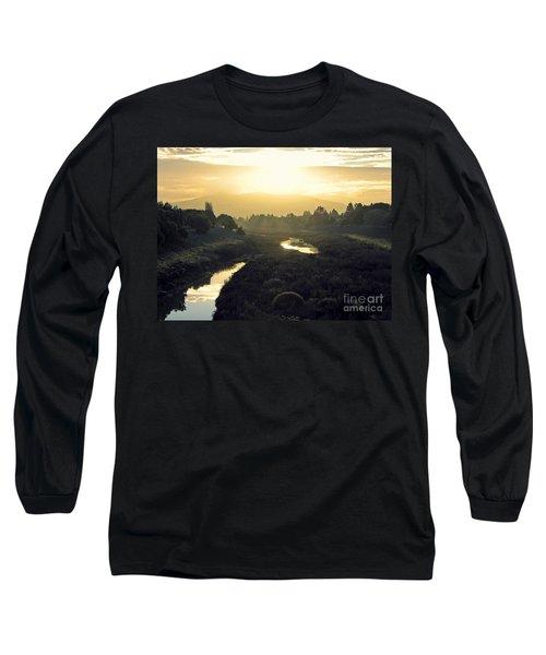 Long Sleeve T-Shirt featuring the photograph Fremont Dawn by Ellen Cotton