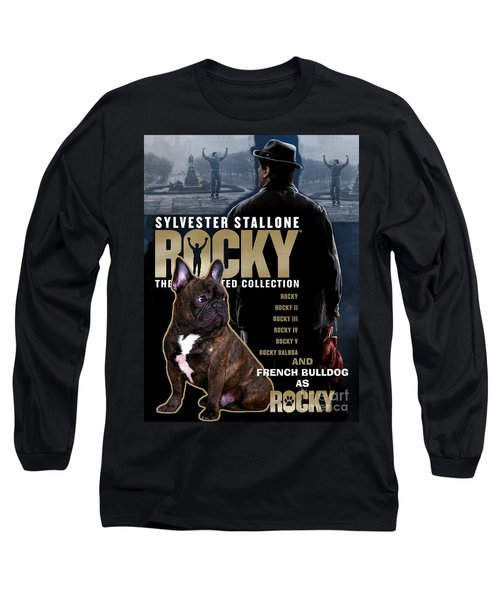 French Bulldog Art - Rocky Movie Poster Long Sleeve T-Shirt