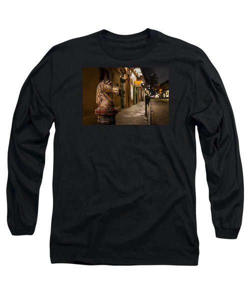 Long Sleeve T-Shirt featuring the photograph French Quarter Hitching Post by Tim Stanley