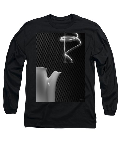 Fresh Pot Of Coffee- Light Painting Long Sleeve T-Shirt by Steven Milner