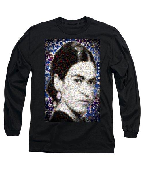 Frida Kahlo Mosaic Long Sleeve T-Shirt