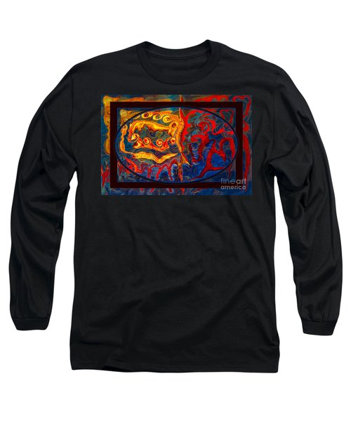 Friendship And Love Abstract Healing Art Long Sleeve T-Shirt
