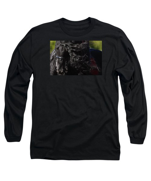 Friesian Beauty Long Sleeve T-Shirt by Wes and Dotty Weber