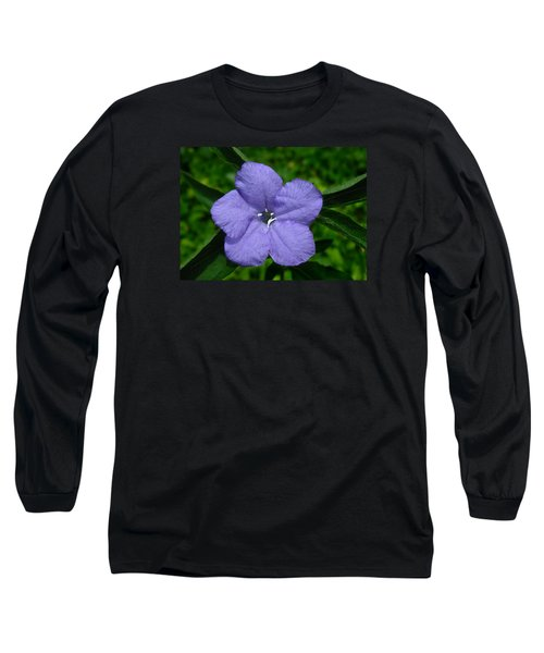Wild Fringeleaf Ruellia Long Sleeve T-Shirt by William Tanneberger