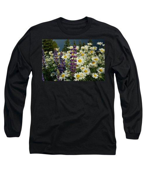 Frisco Flowers Long Sleeve T-Shirt by Lynn Bauer