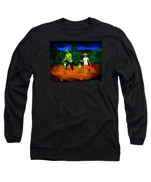 Frog Hunters Long Sleeve T-Shirt by Cyril Maza