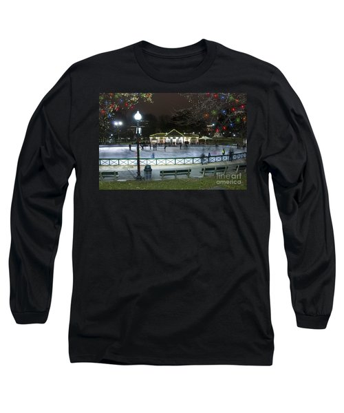 Frog Pond Ice Skating Rink In Boston Commons Long Sleeve T-Shirt