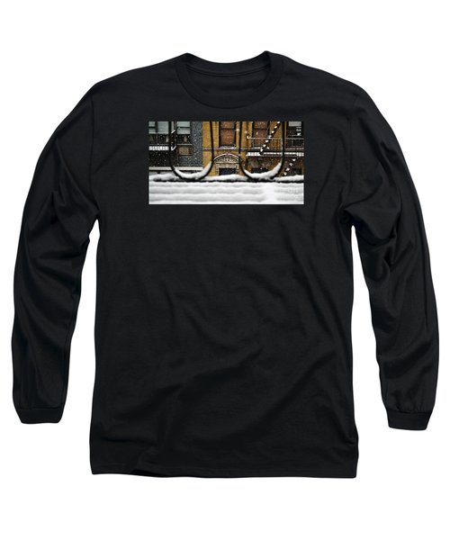 From My Fire Escape - Arches In The Snow Long Sleeve T-Shirt by Miriam Danar