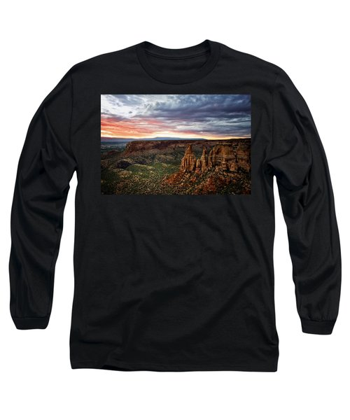 From The Overlook - Colorado National Monument Long Sleeve T-Shirt by Ronda Kimbrow