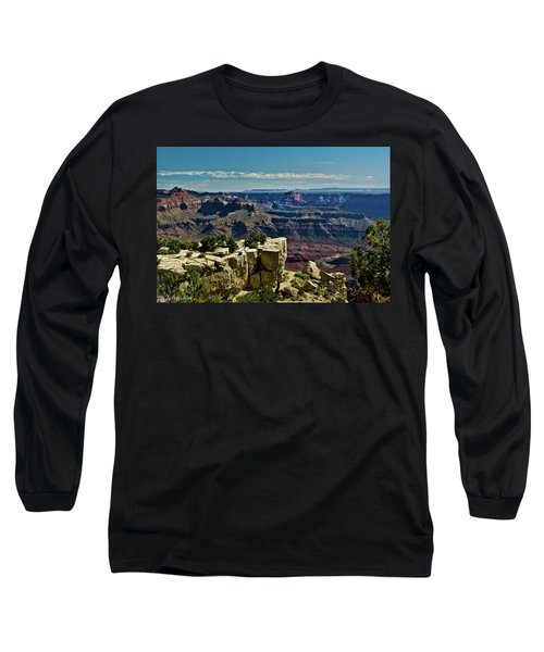 Long Sleeve T-Shirt featuring the photograph From Yaki Point 2 Grand Canyon by Bob and Nadine Johnston