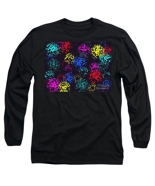 Frosty Marbles Long Sleeve T-Shirt by Mark Blauhoefer