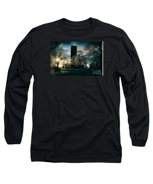Frosty Sunrise At Tower Park Long Sleeve T-Shirt