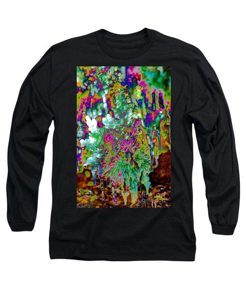 Long Sleeve T-Shirt featuring the digital art Frozen Juniper by Mae Wertz