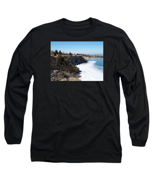 Frozen Quarry Long Sleeve T-Shirt by Catherine Gagne