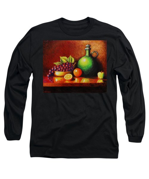 Fruit And Jug Long Sleeve T-Shirt by Gene Gregory
