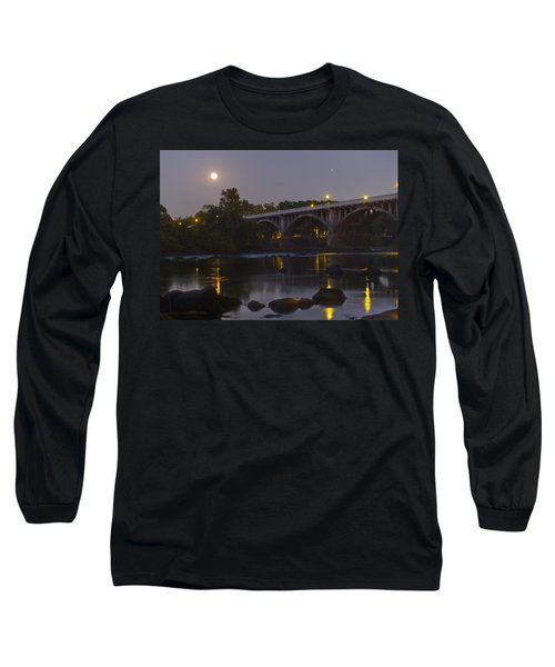 Full Moon And Jupiter-1 Long Sleeve T-Shirt by Charles Hite
