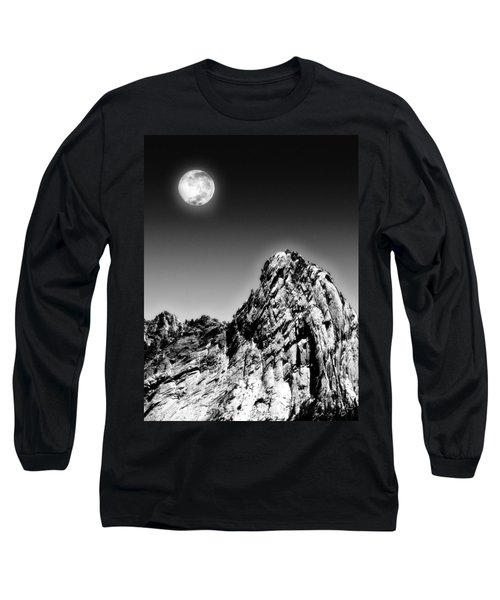 Full Moon Over The Suicide Rock Long Sleeve T-Shirt