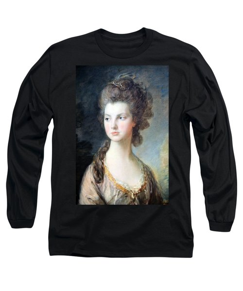 Gainsborough's The Hon. Mrs. Thomas Graham Up Close Long Sleeve T-Shirt