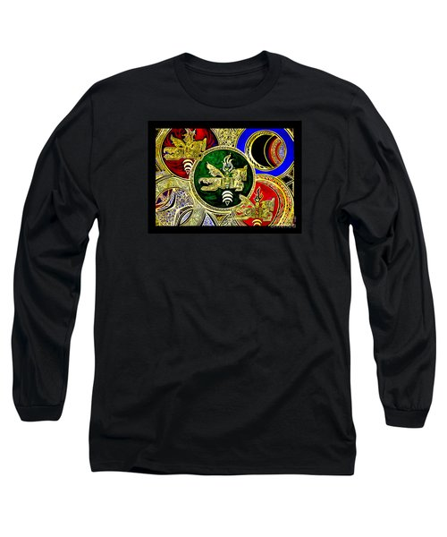 Long Sleeve T-Shirt featuring the painting Galactic Windhorses by Susanne Still