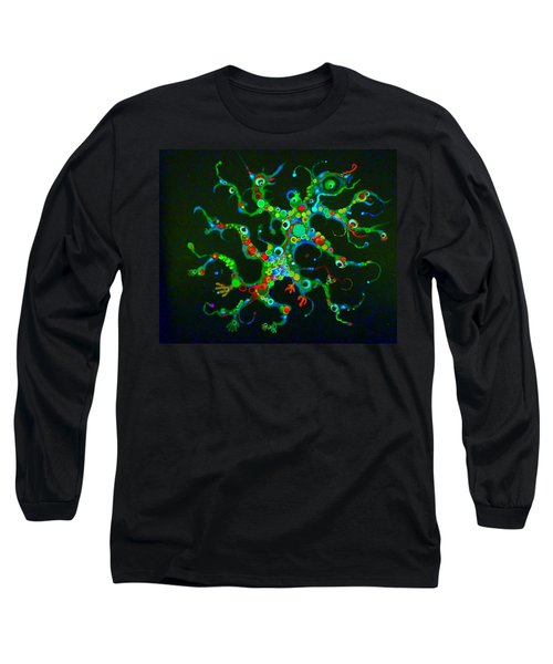 Galactik Gekko Long Sleeve T-Shirt by Douglas Fromm