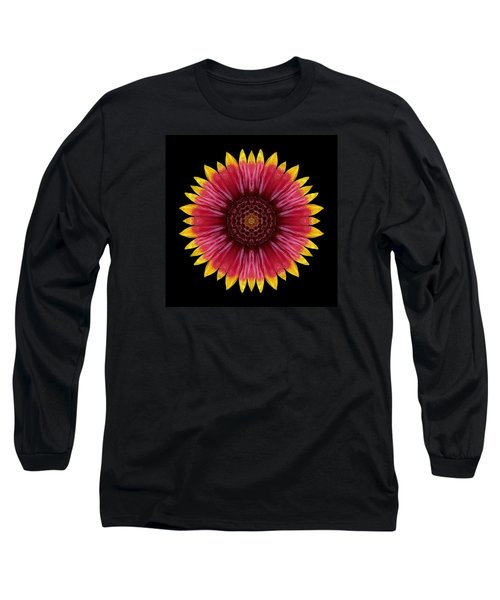 Long Sleeve T-Shirt featuring the photograph Galliardia Arizona Sun Flower Mandala by David J Bookbinder