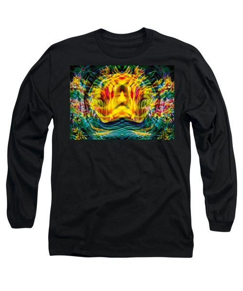 Long Sleeve T-Shirt featuring the painting Garden Flowers by Omaste Witkowski